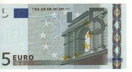 """5 EURO  """"X""""   Firma Trichet     P 017 I4   X35  /  FDS - UNC - EURO"""