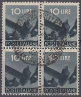 ITALIA - 1945 - Quartina Usata Di Yvert 496. - 5. 1944-46 Lieutenance & Humbert II: