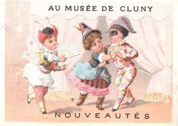 Chromo Au Musée De Cluny. Les Fetes En Masque, Carnaval, Arlequin, Colombine. Arlecchino. Testu Massin 32-52/4 - Autres