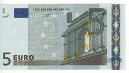 "5 EURO  ""X""     Firma Duisenberg     P 008 D3  X10   /  FDS - UNC - EURO"