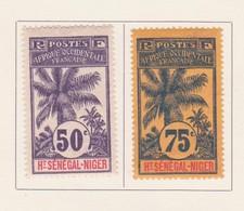 Haut Sénégal Et Niger - Obersenegal Und Niger - Upper Senegal And Niger 1906 Y&T N°13 à 14 - Michel N°13 à 14 * - Haut-Sénégal Et Niger (1904-1921)