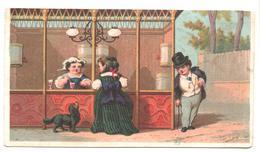 Chromo Victorian Trade Card. Le Kiosque Des Boissons. Testu Massin 32-58/4 - Autres