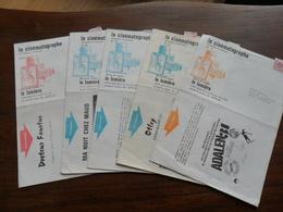 ANC. PROGRAMME / 5 N° (  45 - 55- 56 - 59 - 61 )  REVUE DU CINEMA D' ART ET D'ESSAI   / LE LUMIERE / LIEGE  ANNEES 70 - Programmes