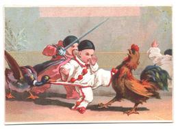 Chromo A La Ville De Londres. Aventures D'enfants Et Animaux. Pierrot Et Le Coq. Testu Massin 32-71/6 - Autres