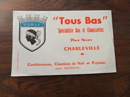 ANCIEN BUVARD / PUB / TOUS BAS  / CHARLEVILLE / FRANCE - Papeterie