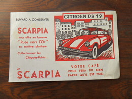 ANCIEN BUVARD / PUB / SCARPIA CAFE  / CITROEN DS 19 - Stationeries (flat Articles)