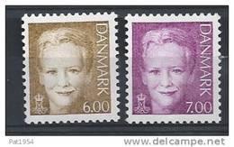 Danemark 2001 N° 1282/1283  Neufs ** Reine Margrethe - Danemark