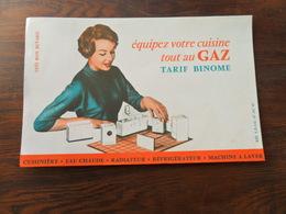 ANCIEN BUVARD / PUB / TOUT AU GAZ - Stationeries (flat Articles)