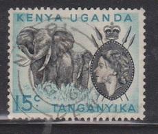 KUT Scott # 106 Used - QEII & Elephants - Kenya, Uganda & Tanganyika