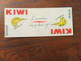 ANCIEN BUVARD / PUB / KIWI LE CIRAGE DE LUXE - Papeterie