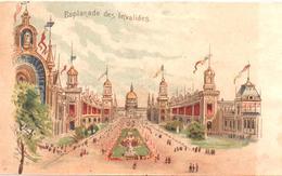 Chromo, Trade Card. Exposition Universelle Paris 1900. L'Esplanade Des Invalides. TM Champenois 36-20/2 - Autres