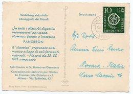 DEAR DOCTOR TYPE PUBL. PANCREON/ KALI-CHEMIE A.G.- HEIDELBERG VISTO DALLA PASSEGGIATA DEI FILOSOFI/BERLIN STAMP - Salute