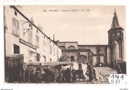 141 FRD63 ORCINE PLACE DE L EGLISE TTB - Francia