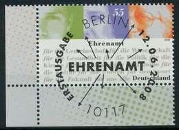 BRD 2008 Nr 2674 ESST Zentrisch Gestempelt ECKE-ULI X84869A - BRD