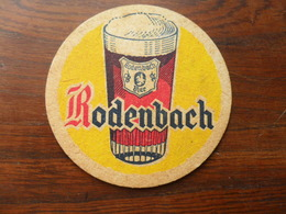 ANCIEN SOUS-BOCK  BIERE RODENBACH  QUI A VOYAGE DE KLEMSKERCHE  A COMBLAIN AU PONT EN 1969 - Sous-bocks