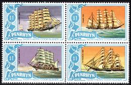 Penrhyn Island 1981 $1 Block Of Four Unmounted Mint. - Penrhyn