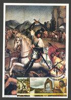 Portugal Saint Jacques Santiago Chevalier Cheval Peinture XVI Siècle Carte Maximum 2015 Saint James Horse Maxicard - Religieux