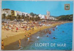 LLORET DE MAR - COSTA BRAVA - PLAYA - Topless Girl / German Stamp  Vg S2 - Gerona