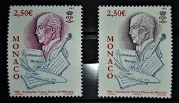 MONACO 2006 - N°2551 X 2 NUANCES - NEUFS** - Abarten
