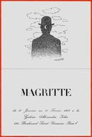 Carton D'Invitation EXPOSITION Du Peintre Belge MAGRITTE 1967 Galerie Jolas Boulevard St Saint-Germain 75007 Paris * ART - Faire-part