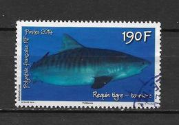 """LOTE 1828  ///  (C025)  POLYNESIE FRANÇAISE  1068 De 2014 Oblitéré """"le Requin Tigre"""" - Polinesia Francesa"""