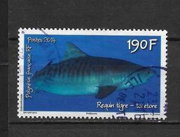 """LOTE 1828  ///  (C025)  POLYNESIE FRANÇAISE  1068 De 2014 Oblitéré """"le Requin Tigre"""" - Polynésie Française"""
