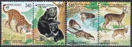 South Korea KPCC1471-4 Protection Of Wildlife, Amur Leopard, Moon Bear, Otter, Musk Deer, Animal - Protection De L'environnement & Climat