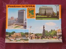 Serbia Unused Postcard Nis Multiview Castle Horse Statue - Serbie