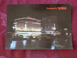 Serbia Unused Postcard Nis Hotel By Night - Serbie