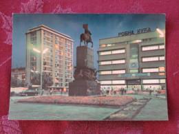 Serbia Unused Postcard Nis Horse Statue In Park By Night - Serbie
