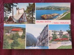 Serbia Unused Postcard Perucac Tara National Park Multiview Boat River Lake Monument - Serbie