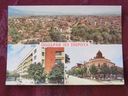 Serbia Unused Postcard Pirot Multiview Panorama - Serbie