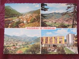 Serbia Unused Postcard Priboj Multiview Panorama Buildings - Serbie