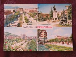 Serbia Unused Postcard Prokuplje Multiview Monument Soldier Street Views - Serbie