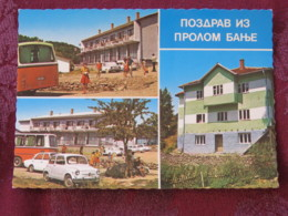 Serbia Unused Postcard Prolom Multiview Houses Cars - Serbie