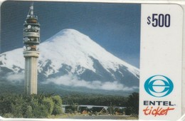 Chile - ENT-Tower-011a, Torre Y Montaña Nevada, Telecommunications Tower, Mountains, 500US$, Exp. 30/11/99, Mint - Chili