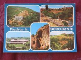 Serbia Unused Postcard Sokobanja Multiview Rocks Hotels - Serbie