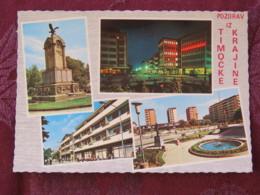 Serbia Unused Postcard Timocka Krajina Region Multiview Zajecar Statue - Serbie