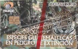 Guatemala - GT-TLG-0011A, Telgua - Ladatel, Jaguar, GEM5 (Red), Animals (Fauna), Cats, 1999, Mint - NSB As Scan - Guatemala
