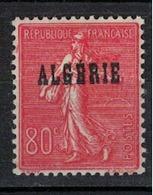 ALGERIE         N°  YVERT  :   27 ( Surchage Epaisse )   NEUF SANS   CHARNIERES      ( Nsch 1/15  ) - Algérie (1924-1962)
