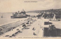 Cp , 06 , NICE , Promenade Des Anglais à Vol D'oiseau - Squares