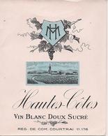 HAUTES-COTES VIN BLANC DOUX SUCRE HM  (1) - Blancs