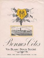 BONNES-COTES VIN BLANC DOUX SUCRE HM  (1) - Blancs