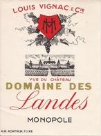 DOMAINE DES LANDES MONOPOLE VUE DU CHATEAU  HM  (1) - Bordeaux