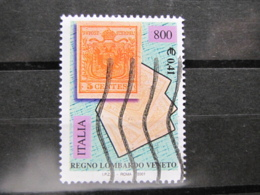 *ITALIA* USATI 2001 - 150° FRANC LOMBARDO VENETO - SASSONE 2527 - LUSSO/FIOR DI STAMPA - 6. 1946-.. Repubblica