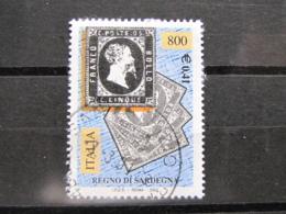 *ITALIA* USATI 2001 - 150° FRANC REGNO SARDEGNA - SASSONE 2528 - LUSSO/FIOR DI STAMPA - 6. 1946-.. Repubblica