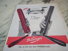 ANCIENNE PUBLICITE IL FONT LA NIQUE A LA METEO KNIRPS AUTO 1960 - Publicité