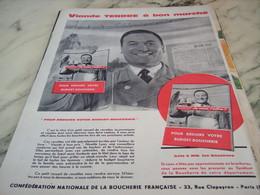 ANCIENNE PUBLICITE VIANDE TENDRE CONFEDERATION DE LA BOUCHERIE 1960 - Affiches