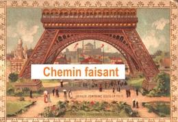 Rare Chromo BYRRH VIOLET Frères (en Espagnol) Thuir 66 - Expo Univ. De 1889 : Fontaine Tour Eiffel - Scans Recto Verso - Autres