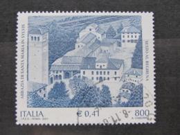 *ITALIA* USATI 2001 - SANTA MARIA IN SYLVIS - SASSONE 2526 - LUSSO/FIOR DI STAMPA - 6. 1946-.. Repubblica